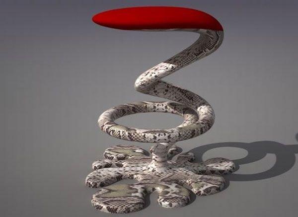 Барный стул-змея от Свилена Гамолова