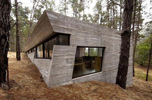 Бетонный дом в лесу от BAK Architects