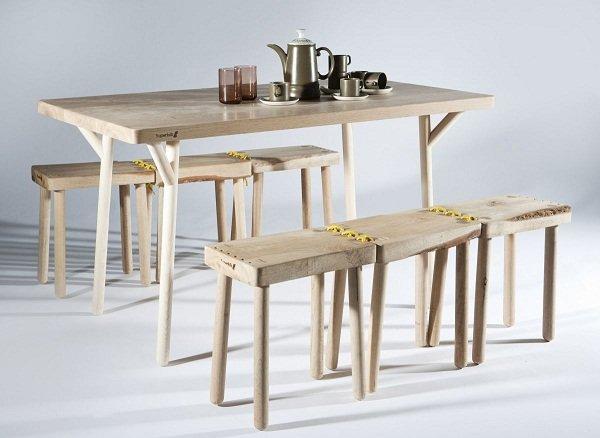 Деревянные столы и стулья от Superfolk