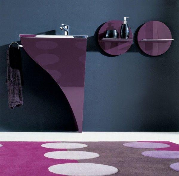 фиолетовая мебель для ванной